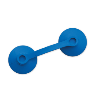 Eurobrushes Antenne plakkers 110 x 38 blauw - 100 stuks