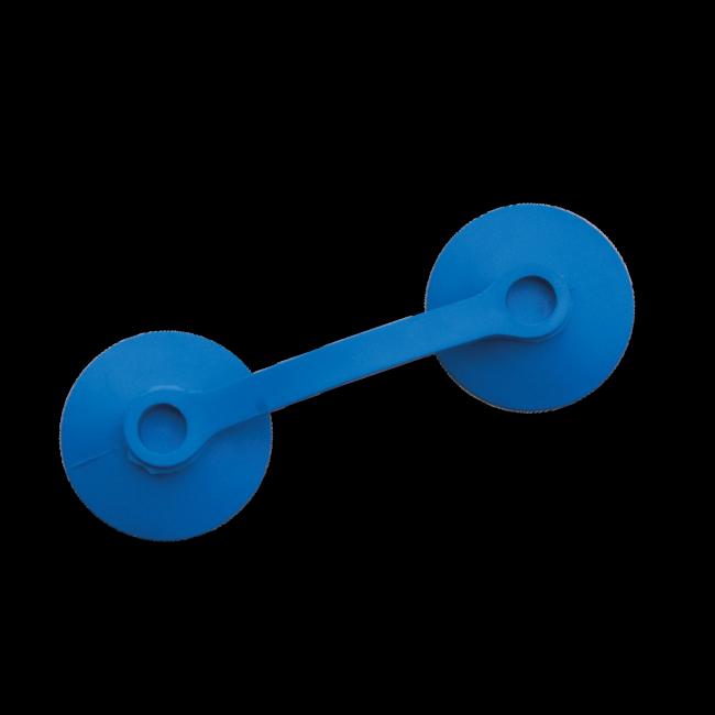 Antenne plakkers 110 x 38 blauw - 100 stuks
