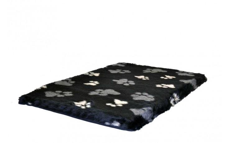 Topmast Benchkussen teddy zwart met voetprint