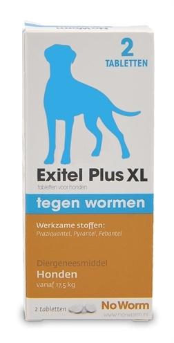 Exil Exitel plus hond no worm tabletten