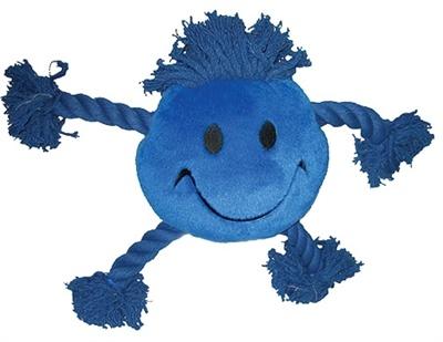 Happy pet Happy pet happy faces pluche smiley blauw