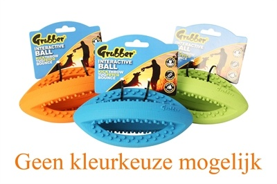 Happy pet Happy pet grubber interactieve rugbybal mini assorti