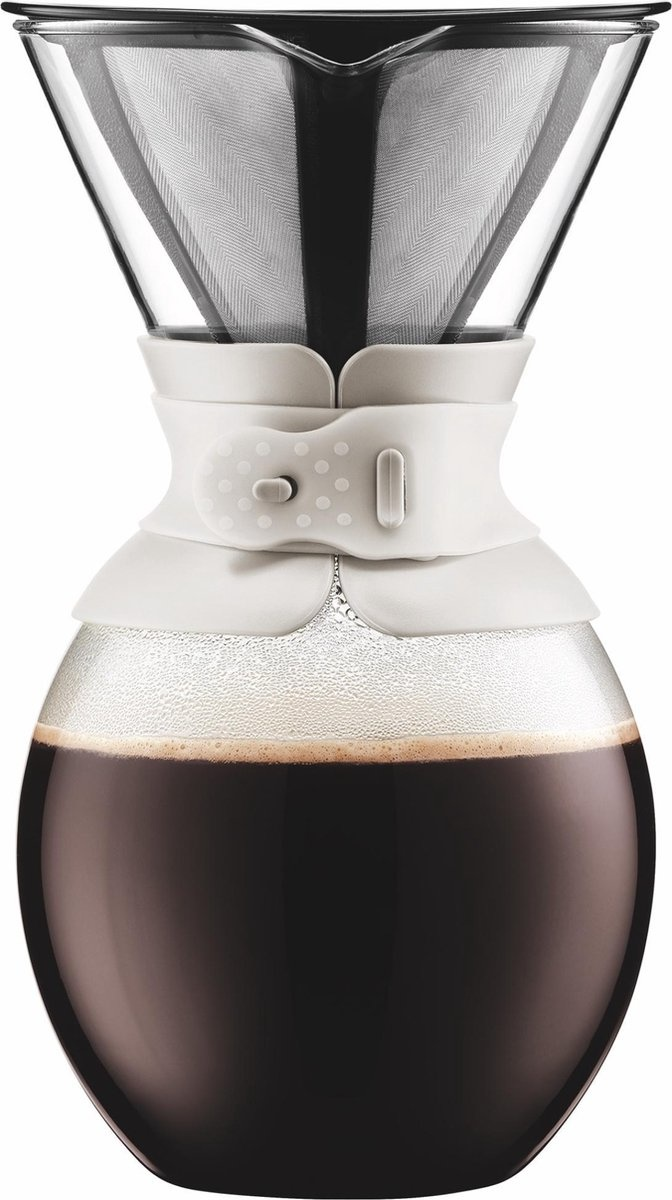 Bodum POUR OVER Filterkoffiezetapparaat 1.5l Wit-1