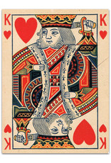 Playing Cards Black Heart King-Tas
