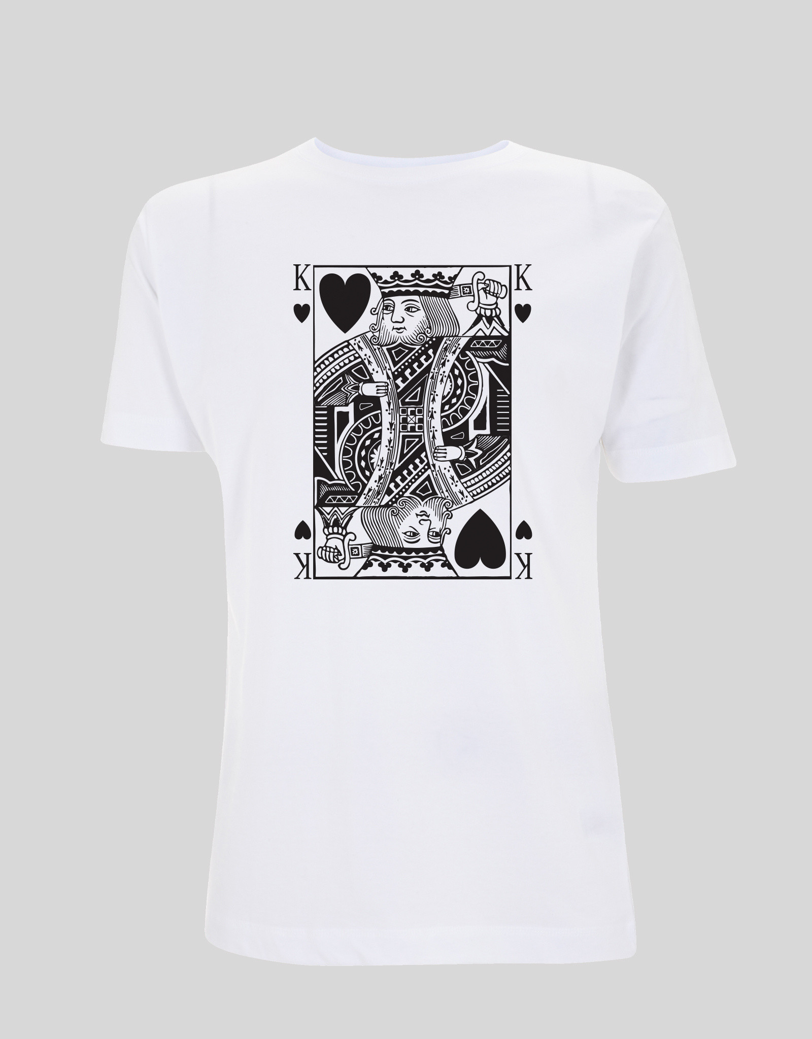 Playing Cards Black Heart King ♂ (white)