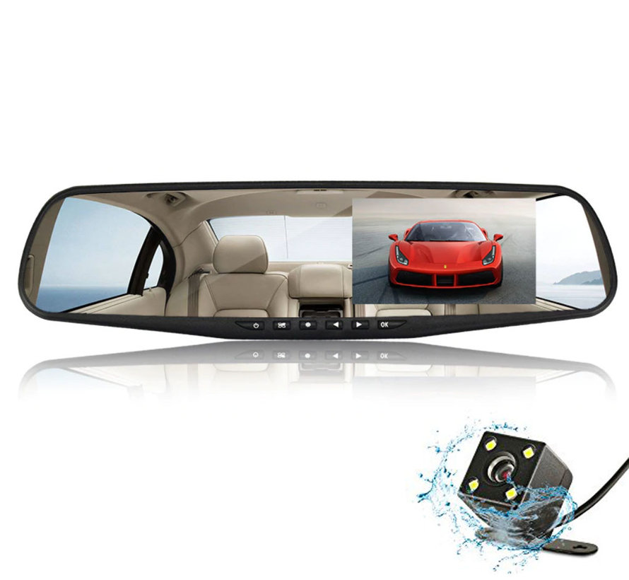 Mirror FullHD 1080p 2CH Dual Clear dashcam