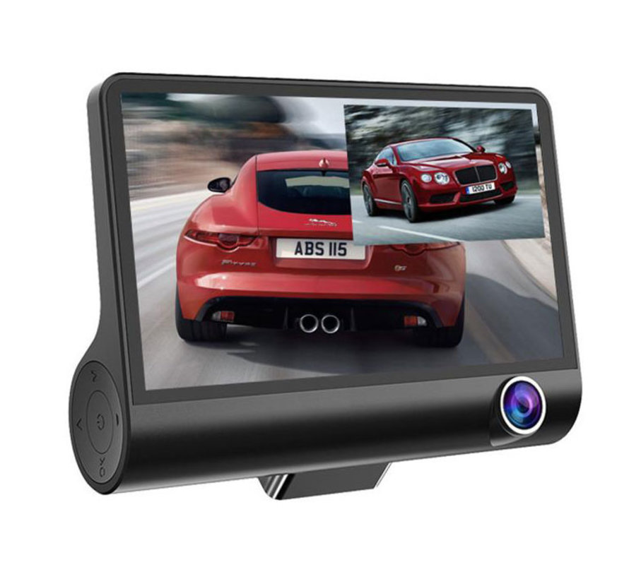 T5 Taxi Dual 2CH 4.0 inch LCD dashcam