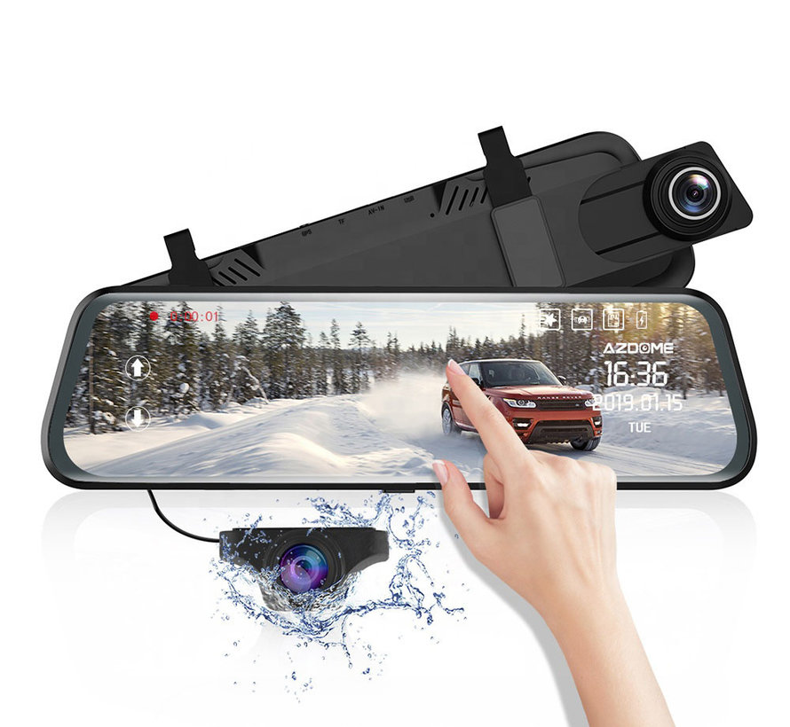 AZDome AR08 2CH Full Mirror Wifi Touch dashcam