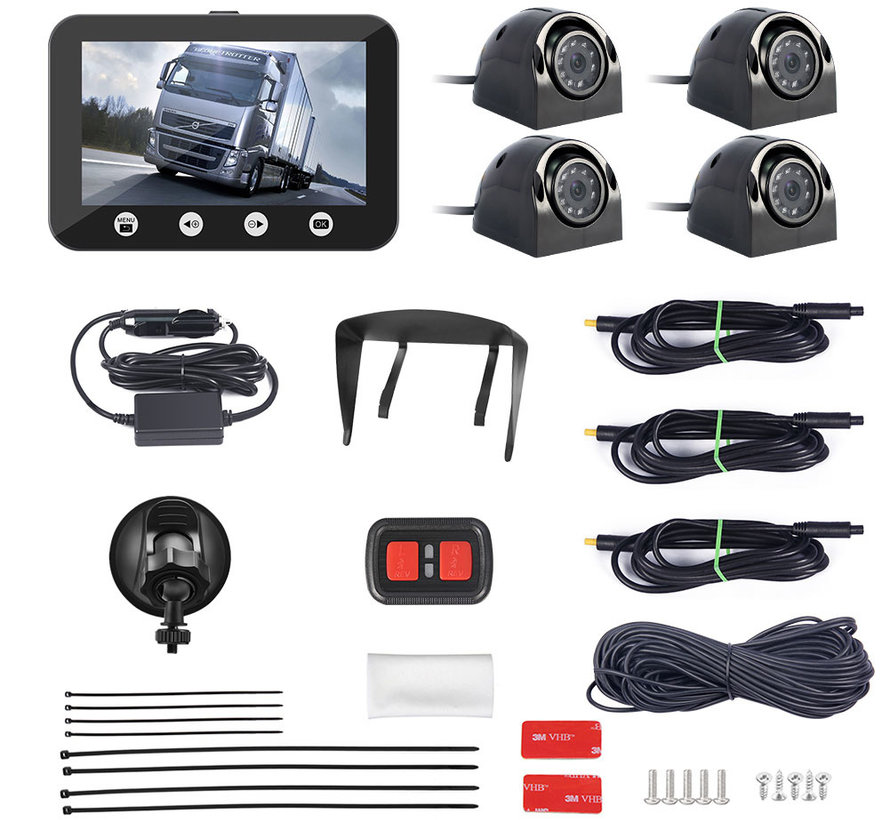 Motocam C4.3 4CH VGA vrachtwagen dashcam