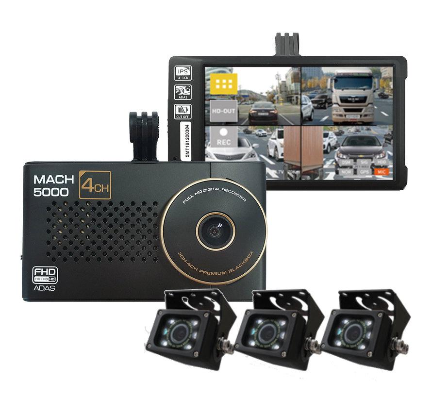 MACH Truck 5000 4CH FullHD 64gb vrachtwagen dashcam