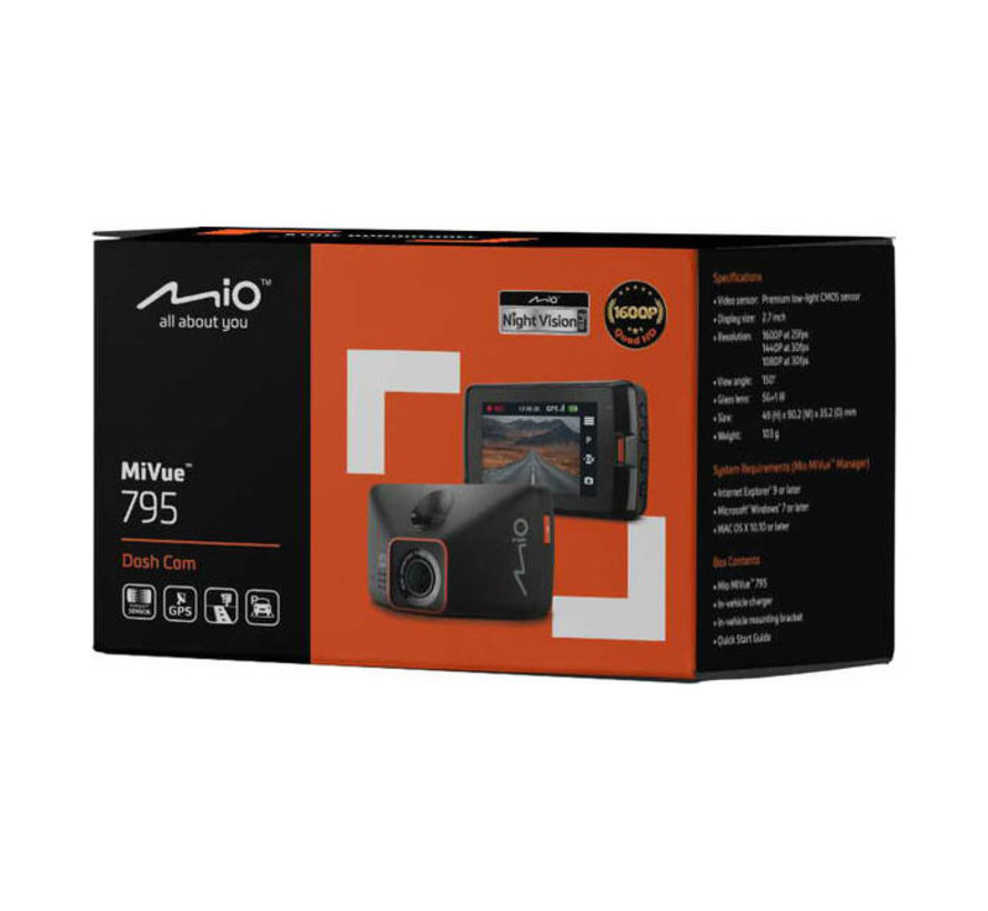 Mio MiVue 795 GPS Wide QHD dashcam