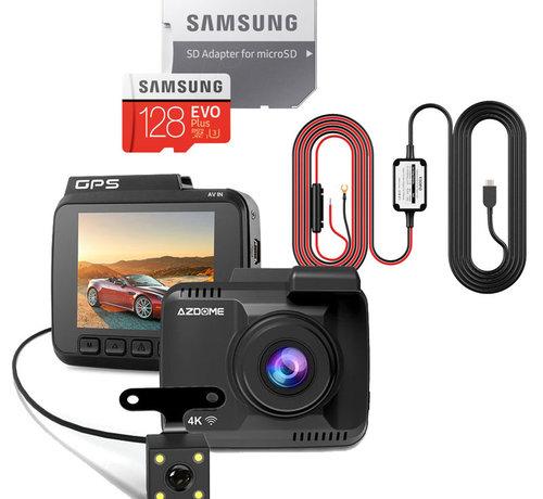 AZDome AZDome GS63H 4K 2CH Dual dashcam - Continue voeding  - 128gb