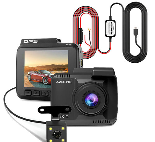 AZDome AZDome GS63H 4K 2CH Dual dashcam - Continue voeding