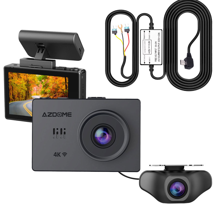 AZDome M10 Pro dashcam - Continue voeding - Rear cam
