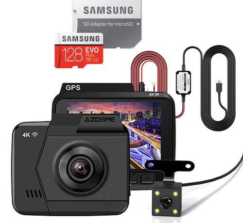AZDome AZDome M06 4K dashcam - Continue voeding - Rear cam - 128gb