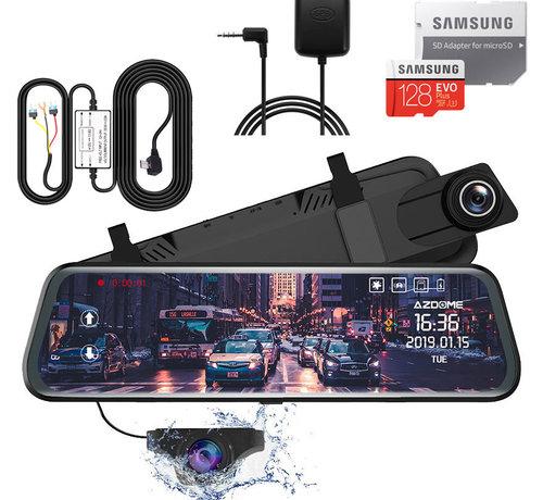 AZDome AZDome AR08 2CH Full Mirror dashcam - GPS - Continue voeding - 128gb