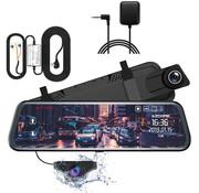 AZDome AZDome AR08 2CH Full Mirror dashcam - GPS - Continue voeding