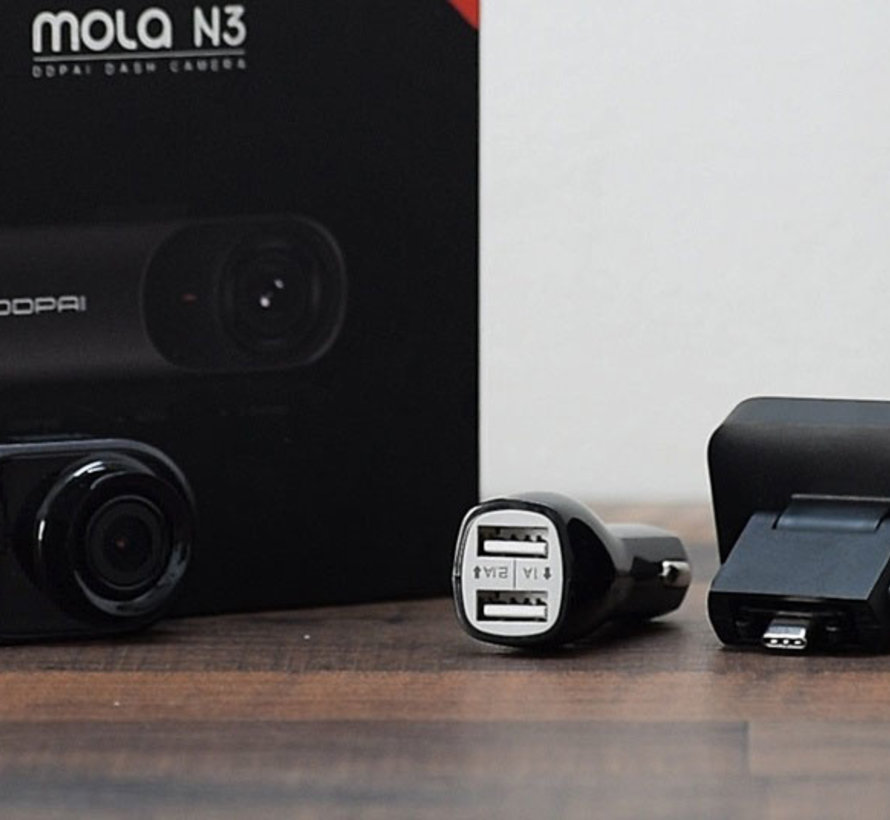 DDPai Mola N3 QuadHD Wifi GPS - Continue voeding