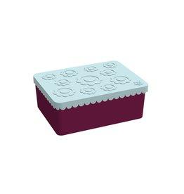 BLAFRE Blafre boîte à lunch 3 compartiments fleurs bleu clair+aubergine