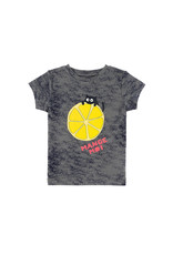 La Queue Du Chat T-shirt gris tie dye agrume
