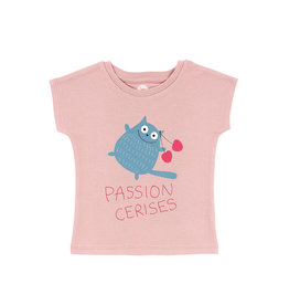 La Queue Du Chat T-shirt rose passion cerises- LQDC