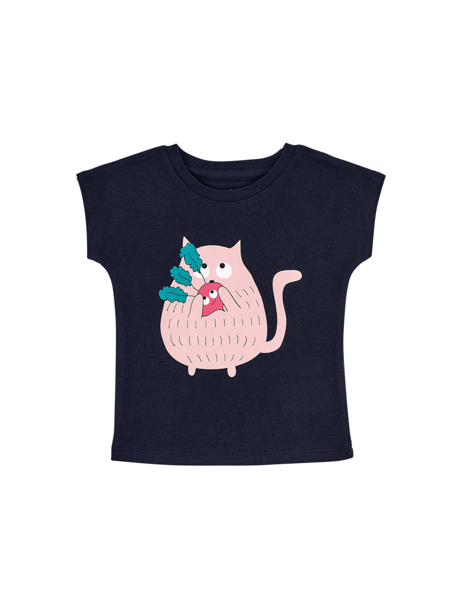 La Queue Du Chat T-shirt marine radis - LQDC