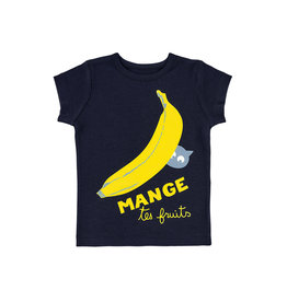 La Queue Du Chat T-shirt bleu marine banane- LQDC