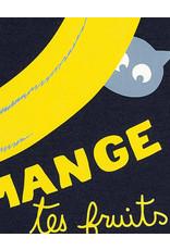 La Queue Du Chat T-shirt bleu marine banane- LQDC
