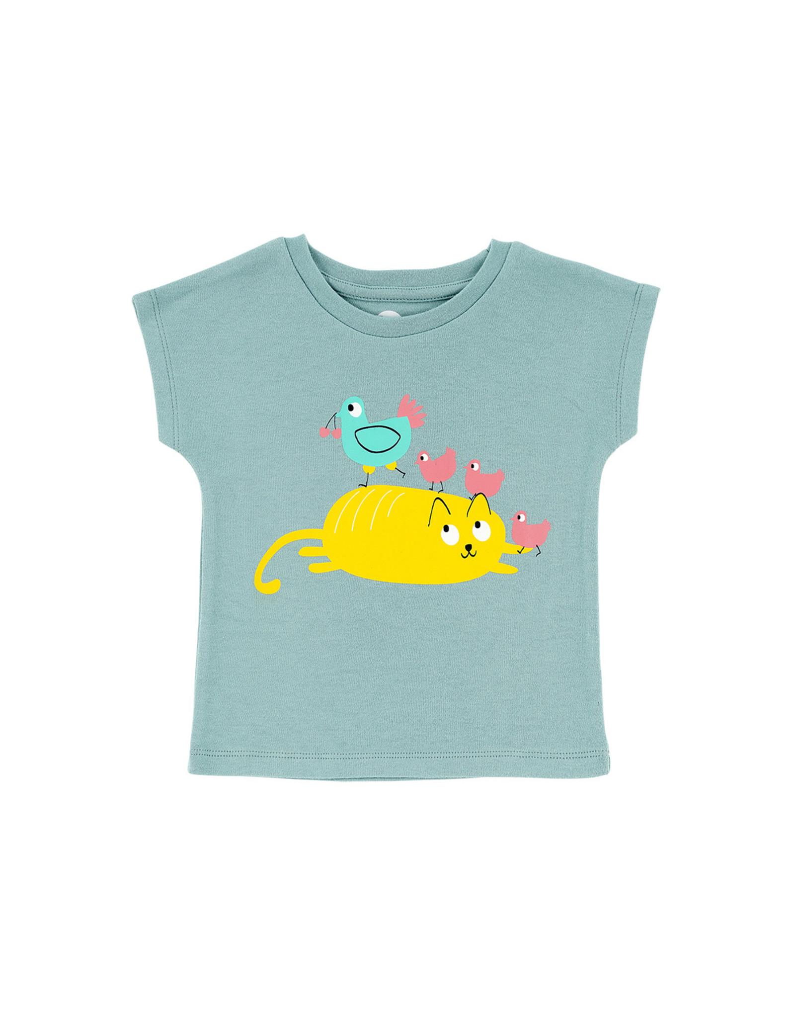 La Queue Du Chat T-shirt bleu cocotte - LQDC