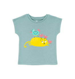 La Queue Du Chat T-shirt bleu cocotte - LQDC