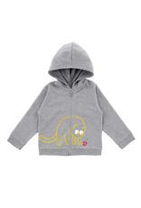 La Queue Du Chat Sweatshirt capuche gris- LQDC
