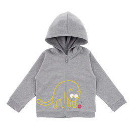 La Queue Du Chat Sweatshirt capuche gris - LQDC