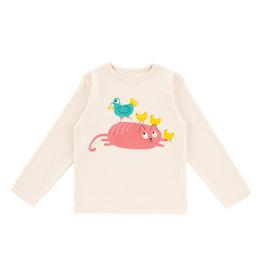 La Queue Du Chat t-shirt Marinière crème cocotte - LQDC