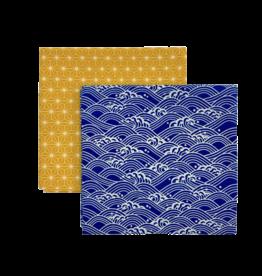 GASPAJOE Furoshiki X 2 étoiles ou vagues bleu