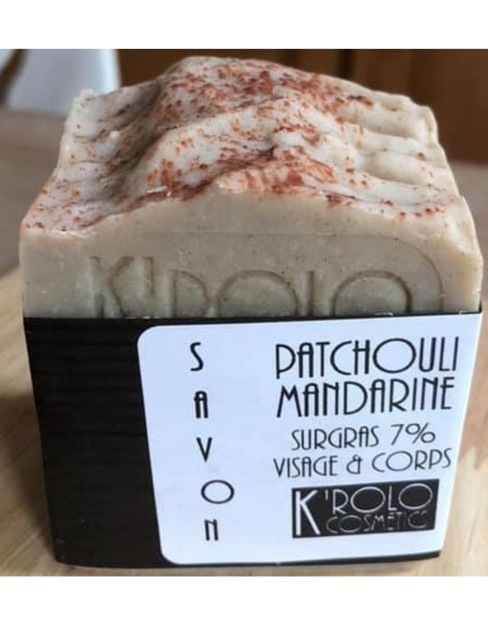 K'rolo Cosmetics savon Patchouli-mandarine
