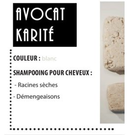 K'rolo Cosmetics Shampoing solide Avocat-Karité