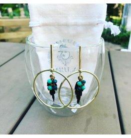 Folly D. Boucles d'oreilles turquoise