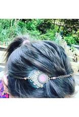Folly D. headband rose et noir