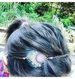 Folly D. headband vieux rose