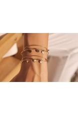 Bohm bracelet rigide doré avec bijou doré