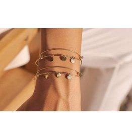 Bohm bracelet rigide doré avec bijoux dorés