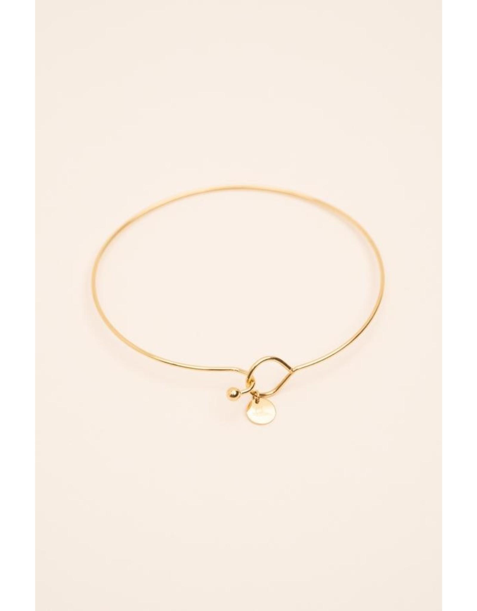 Bohm bracelet rigide doré