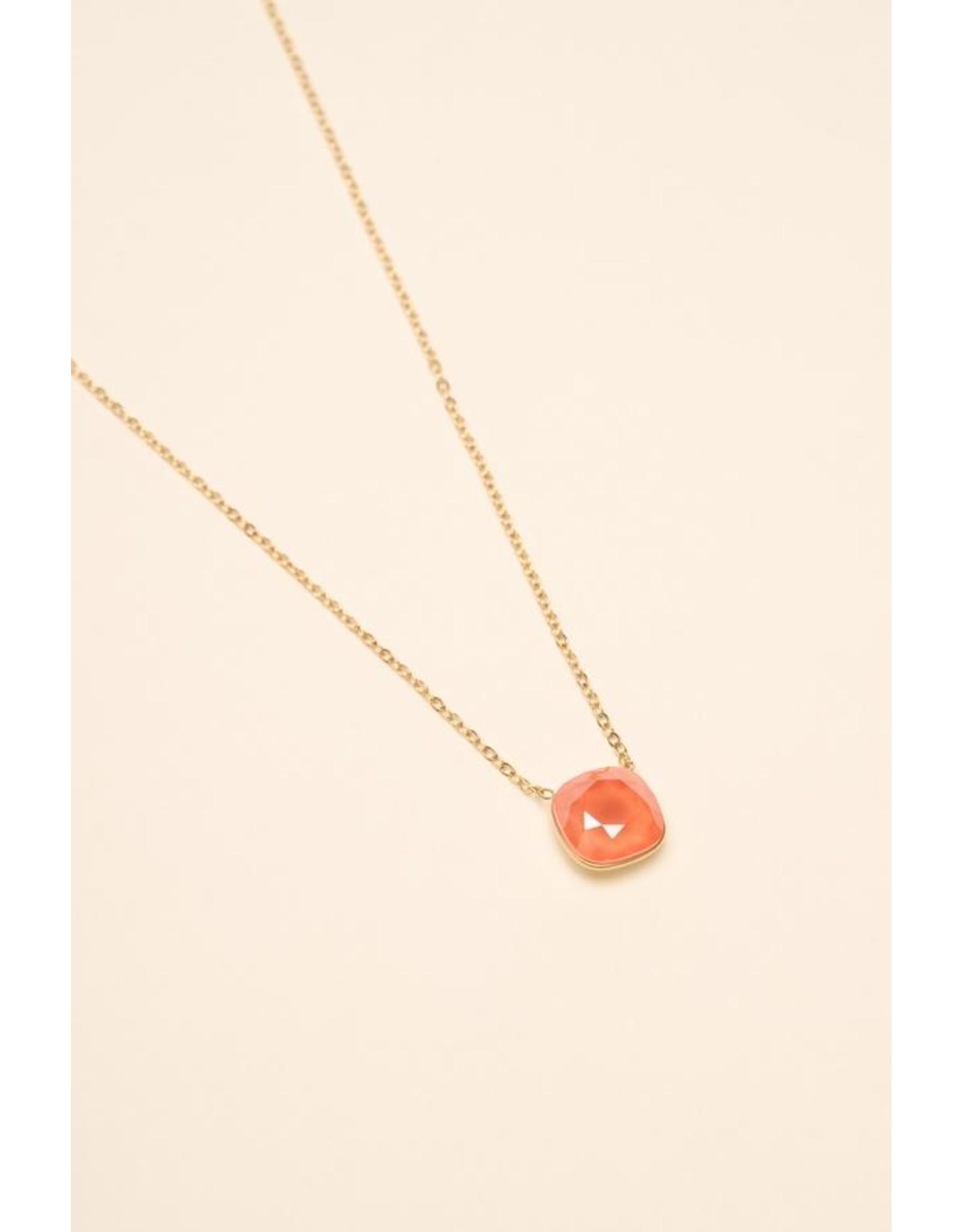 Bohm collier doré corail