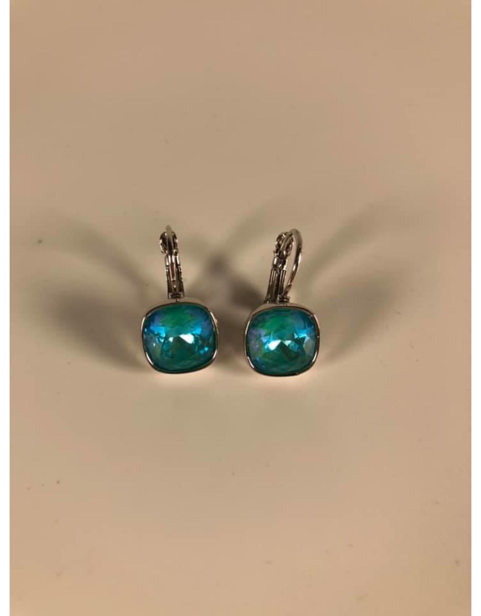 Bohm Boucles d'oreille argentées tuquoise