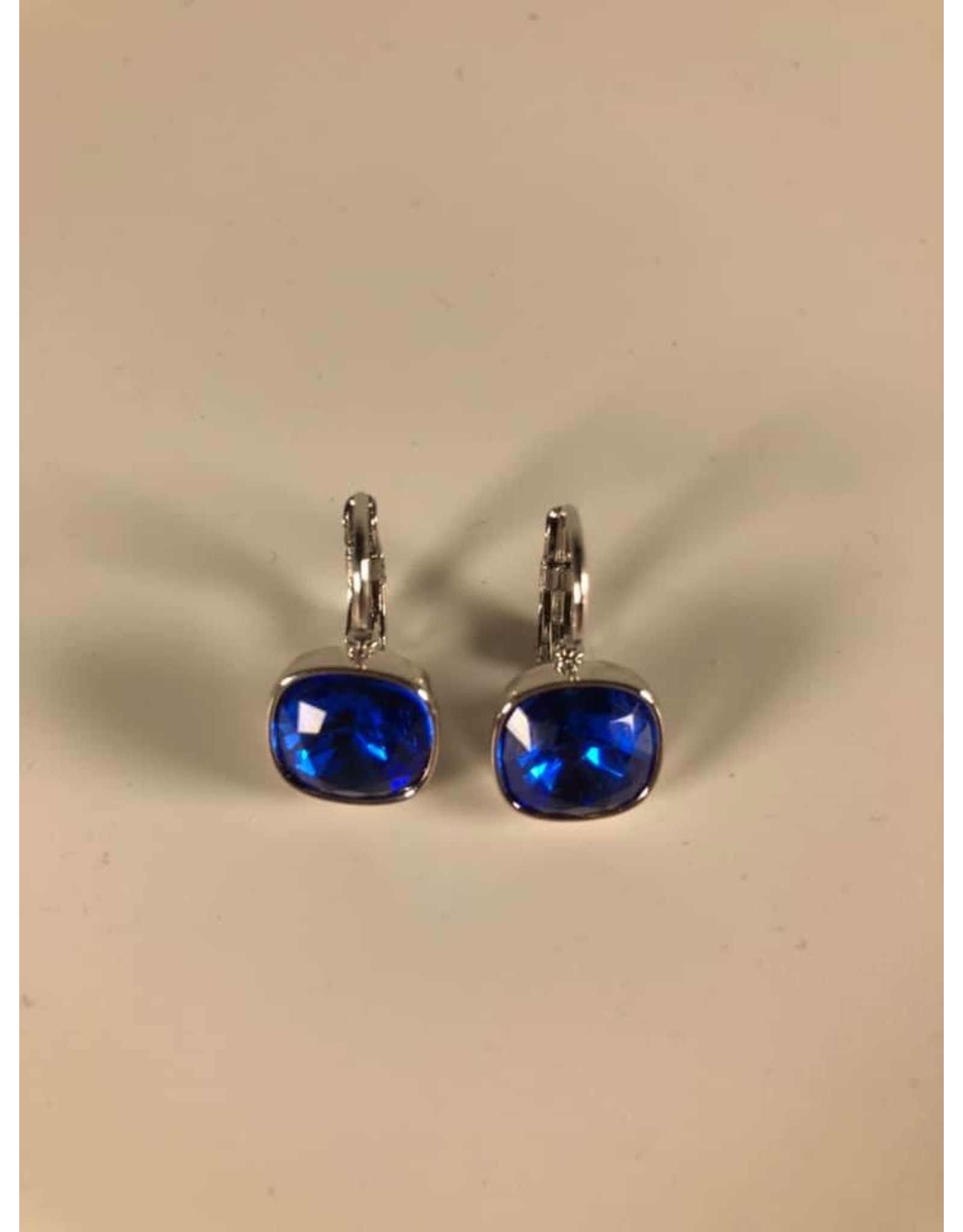Bohm Boucles d'oreilles argentées bleu foncé