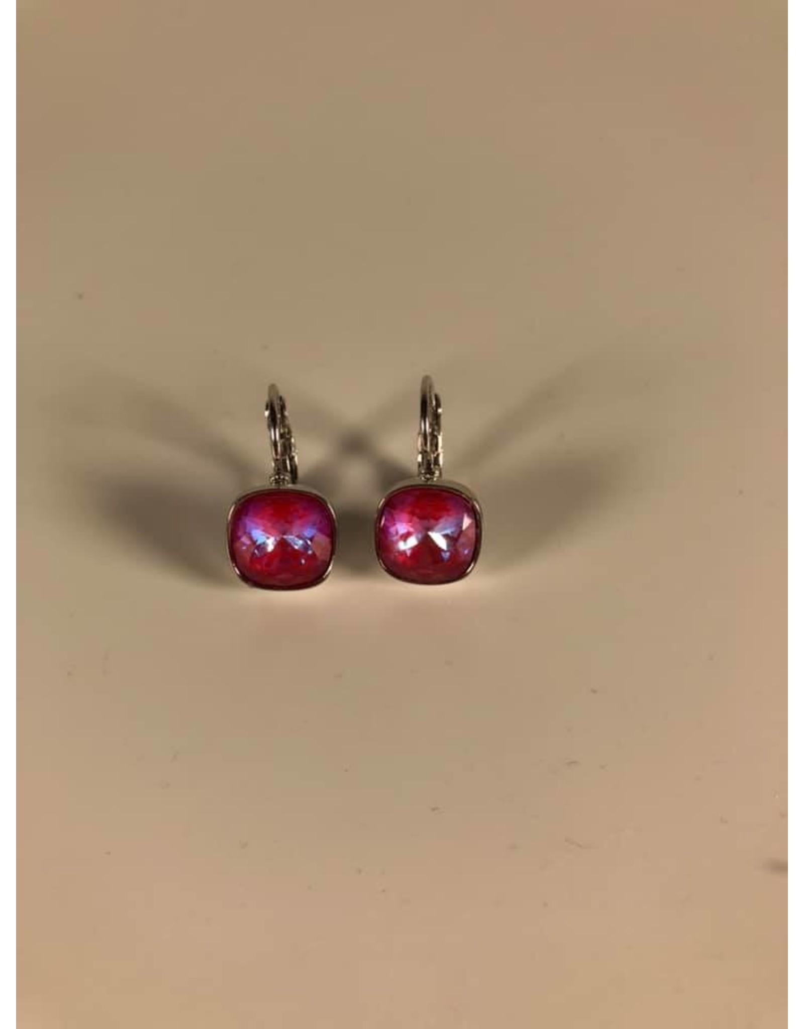 Bohm Boucles d'oreilles argentées rose
