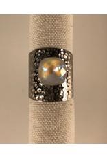 Bohm Bague argentée cristal blanc
