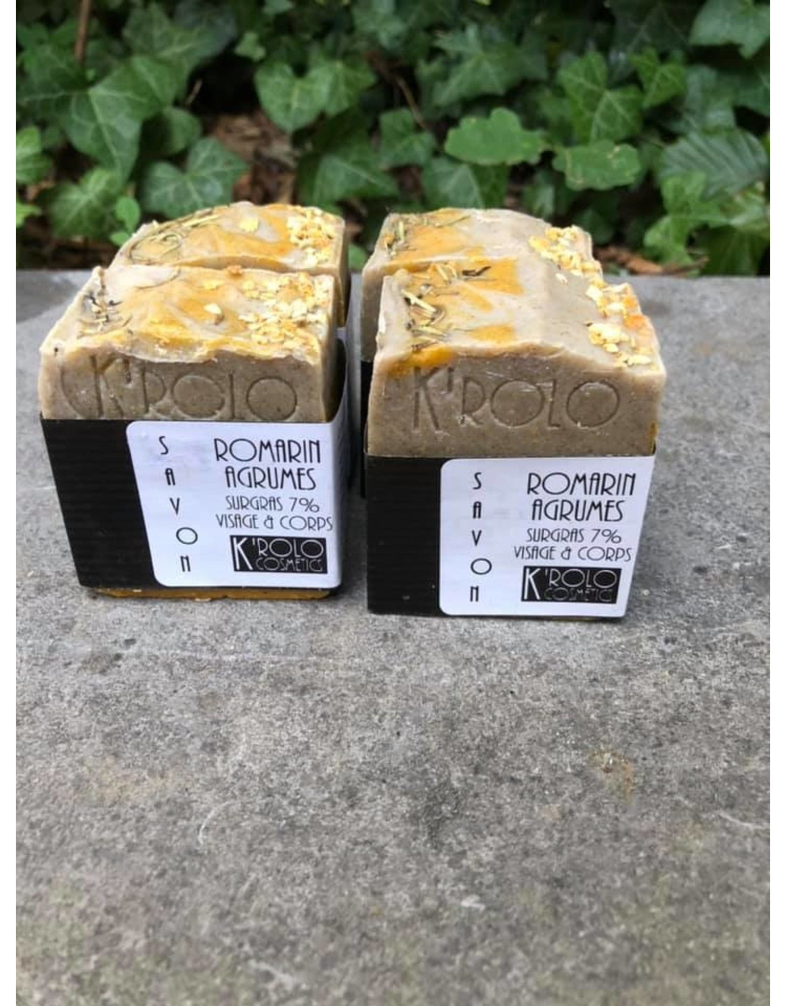 K'rolo Cosmetics savon romarin-agrumes
