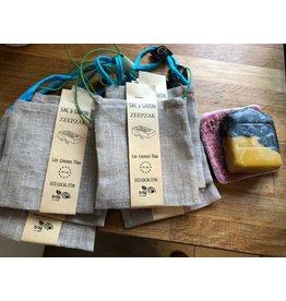 Bag To Green sac à savon en lin naturel