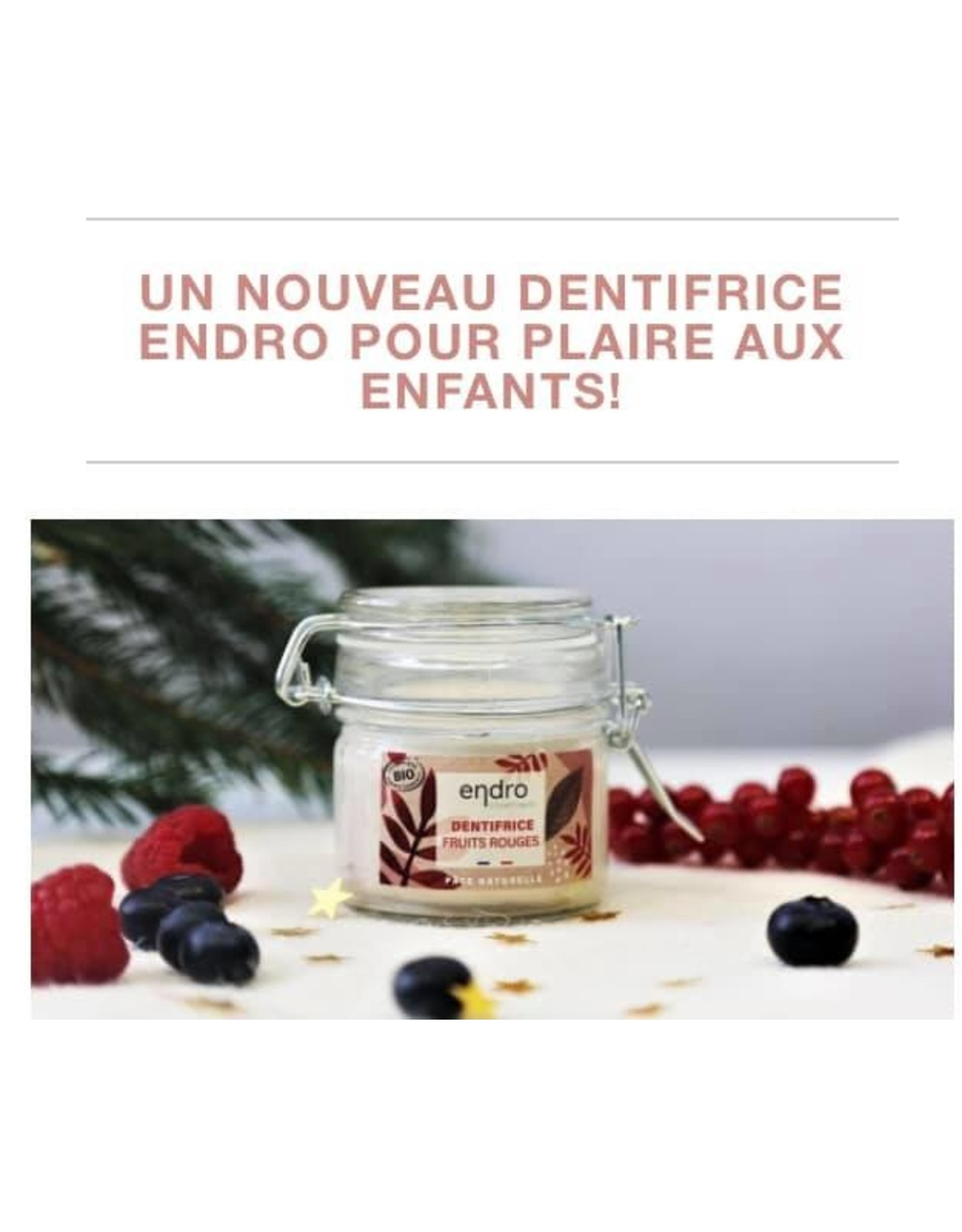 ENDRO Dentifrice aux fruits rouges